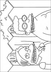 kleurplaat De Simpsons (6)