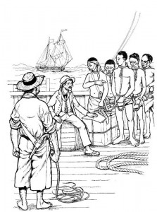 coloring page The slave traders