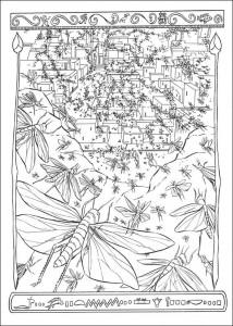 målarbok Locust pesten