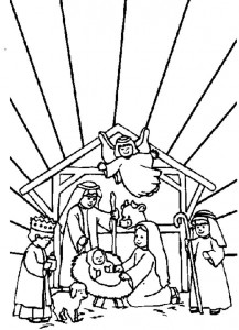 coloring page The stable