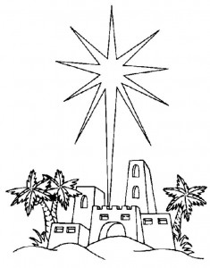 coloring page The star of Bethlehem