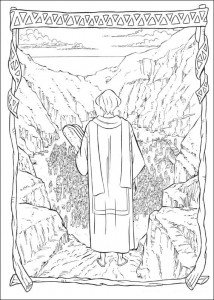 coloring page The ten commandments