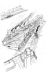 coloring page The titanic leaves for her first journey