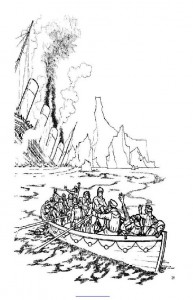 coloring page The Titanic sinks