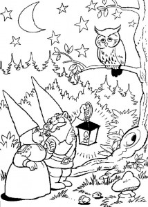 coloring page The owl cannot sleep