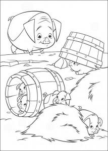 kleurplaat De varkens