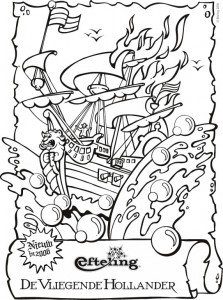 coloring page The Flying Dutchman