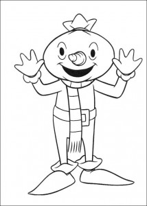 coloring page The scarecrow