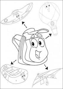 раскраска Удивительный рюкзак