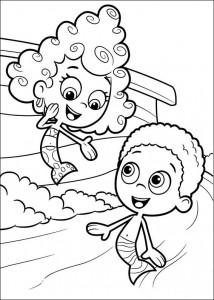målarbok Deema och Goby