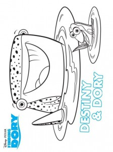 coloring page destiny dory