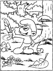 målarbok Seal Smurf (1)