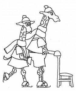 målarbok Dip och Dap skridskor (1)