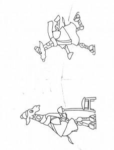 målarbok Dip och Dap skridskoåkning