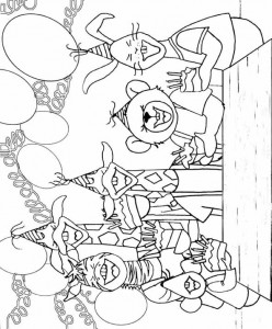 coloring page Dip and Dap have their birthday