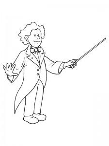 kleurplaat Dirigent (1)