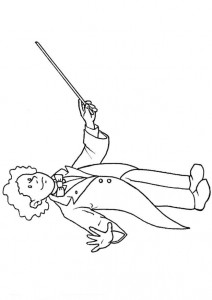 coloring page Conductor