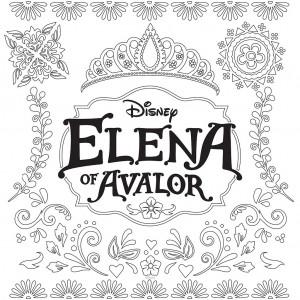 coloring Disney Elena