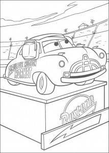 coloring page Doc Hudson is team captain