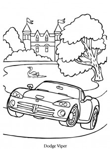 Coloriage Dodge Viper