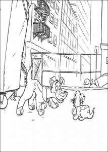 målarbok Dodger och Oliver (2)