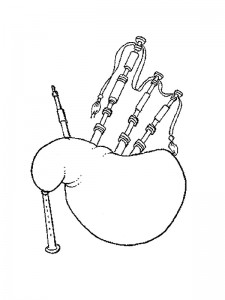coloring page Bagpipes