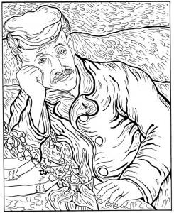 disegno da colorare Doctor Gachet 1890