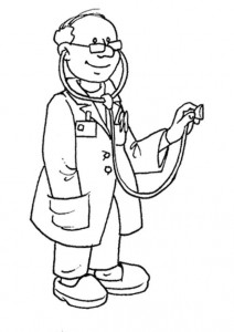coloring page Doctor