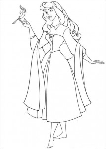 målarbok Sleeping Beauty (2)