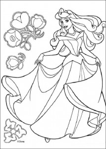 målarbok Sleeping Beauty (5)