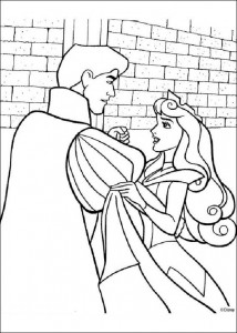 coloring page Sleeping Beauty dances with the prince (2)
