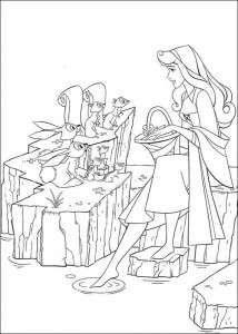 coloring page Sleeping Beauty