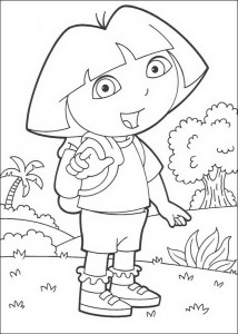 coloring page Dora (1)