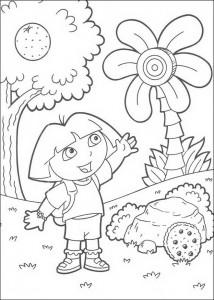 kleurplaat Dora (3)