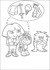 kleurplaat Dora (4)
