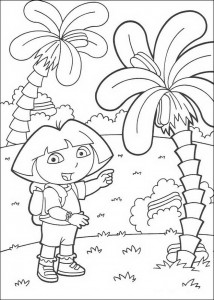 kleurplaat Dora (5)