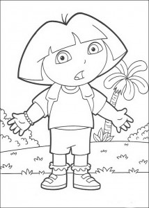 kleurplaat Dora (6)