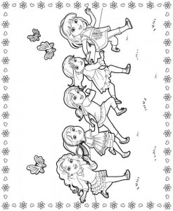 coloring page dora and friends 3