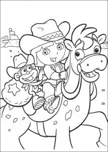 kleurplaat Dora de Verkenner 2 (1)