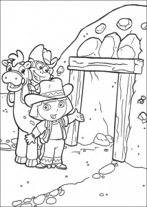 kleurplaat Dora de Verkenner 2 (11)