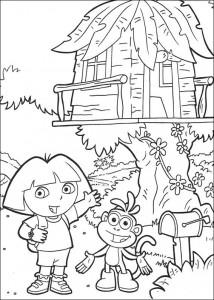 kleurplaat Dora de Verkenner 2 (12)