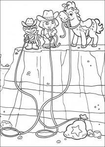kleurplaat Dora de Verkenner 2 (15)