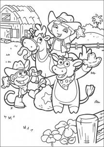 målarbok Dora the Explorer 2 (2)