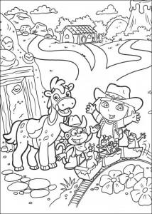 kleurplaat Dora de Verkenner 2 (20)