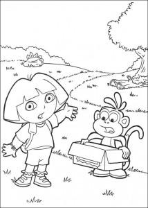målarbok Dora the Explorer 2 (21)