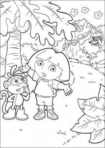 kleurplaat Dora de Verkenner 2 (24)