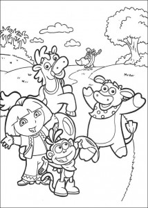 coloring page Dora the Explorer 2