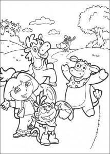 kleurplaat Dora de Verkenner 2