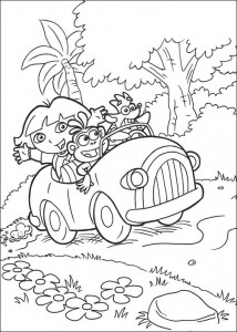 kleurplaat Dora de Verkenner 2 (3)