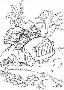 målarbok Dora the Explorer 2 (3)